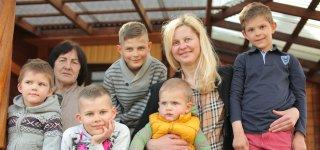 Penkių sūnų mama Daiva augina savąją laimę