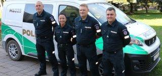 Šalies policininkų vardą Estijoje gina ir Jurbarko pareigūnė