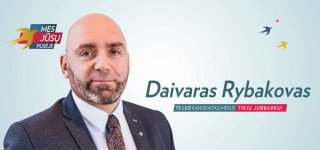 TS-LKD Jurbarko skyriaus pirmininko Daivaro Rybakovo sveikinimas