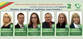 Savivaldos rinkimuose balsuokite už LŽVS sąrašą Nr. 2