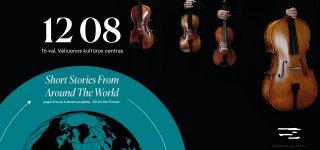 """Styginių Kvarteto """"Chordos"""" koncertas """"Short Stories From Around The World"""" Veliuonos kultūros centre"""