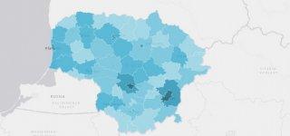 Parengtas virtualių žemėlapių rinkinys, leidžiantis analizuoti su koronavirusu susijusius duomenis