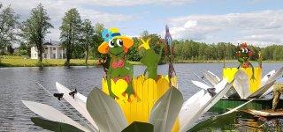 Viešvilės ežerą nušvietė įspūdingos dekoracijos