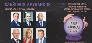 Šiandien Jurbarke - Karšuvos apygardos kandidatų į Seimą debatai (apklausa)