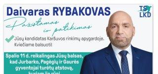 Jūsų kandidatas Karšuvos rinkimų apygardoje - Daivaras Rybakovas