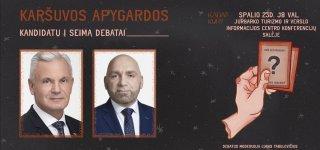 Debatai. Susipažinkite su kandidatais D. Rybakovu ir R. Juška iš arti