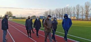 Užbaigti Jurbarko Naujamiesčio progimnazijos sporto aikštyno atnaujinimo darbai