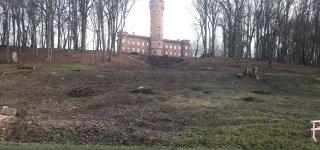 Atlikus kraštovaizdžio formavimo kirtimus, nuo kelio Kaunas-Jurbarkas atsivėrė pilis.