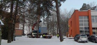 Prie Jurbarko ligoninės pastatyti moduliniai nameliai atliks Izoliacinio skyriaus funkcijas