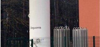 Naujai įrengta skysto deguonies talpykla.