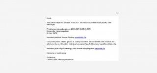 Įspėja: prisidengiant Lietuvos pašto vardu plinta apgaulingi laiškai