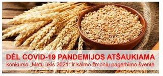 """Dėl COVID-19 pandemijos atšaukiama konkurso """"Metų ūkis 2021"""" ir kaimo žmonių pagerbimo šventė"""