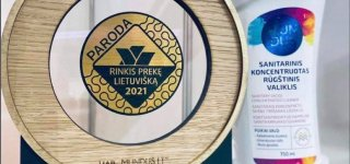 """Parodoje """"Rinkis prekę lietuvišką 2021""""  jurbarkiečių sukurtas produktas įvertintas aukso medaliu"""