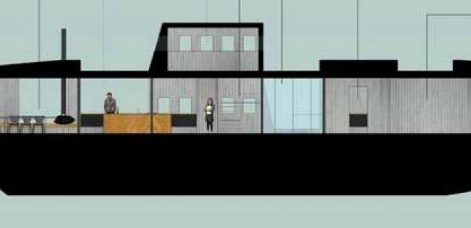 Projektas namo-laivo, kurį jau gegužę Norvegijoje statys jurbarkiečiai.