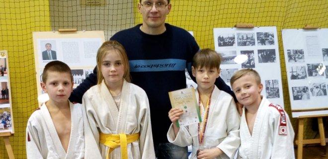 iš kairės į dešinę: Deividas Barzdaitis, Diana Kondratavičiūtė, Rapolas Povilauskas ir Laurynas Brigadierius. / V. Paukščio nuotr.