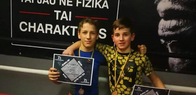 """Justas Vyturys ir Valentinas Ulbikas / Klubo """"Pantera"""" nuotr."""