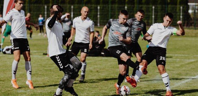 2019 metų Lietuvos mažojo futbolo čempionato Jurbarko etapas. FK Imsrė (Jurbarkas) 2 - 1 FK Polivektris (Vilnius.) / Ievos Morkūnaitės nuotr.
