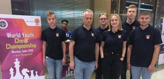Lietuvos delegacijoje - ir jurbarkietis Pijus Greičius (pirmas iš kairės) / Lietuvos šachmatai nuotr.