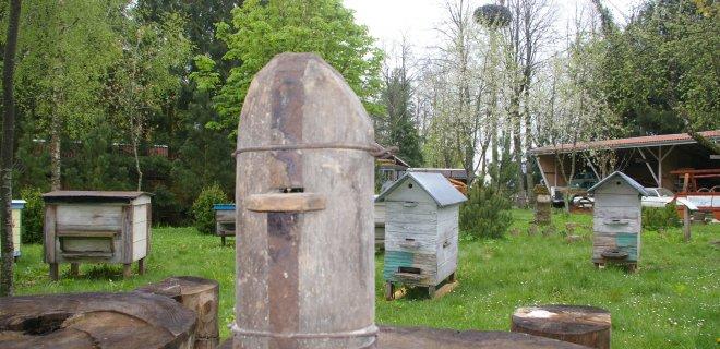 Atidaryta senovinių bitininkavimo priemonių paroda.