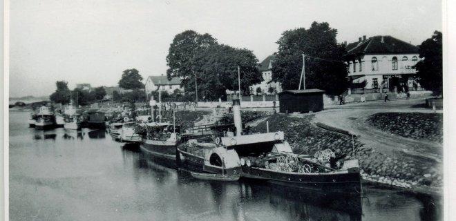 Smalininkų uostas ir vandens matavimų stotis 1924 metais. Istorinė nuotrauka / Kultūros paveldo departamento nuotr.
