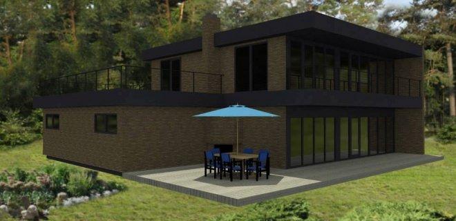 Štai kaip atrodo I. Januškienės projektuotas gyvenamasis namas.