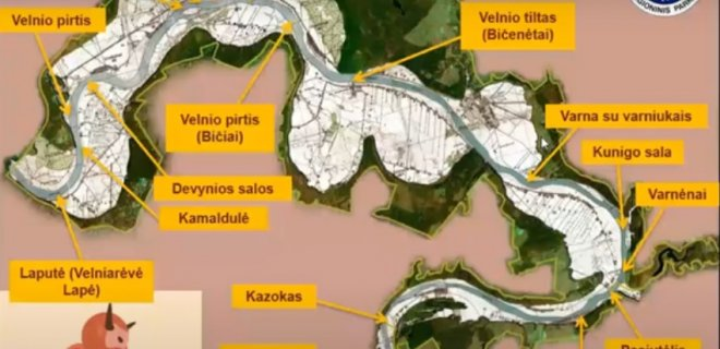 Kauno marių dugne paskandintos Nemuno rėvos