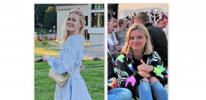 """Gerda (kairėje) mano, jog šis virusas gali tapti visų mūsų kasdienybe.  Karolina (dešinėje): """"Noriu grįžti į darbą, į renginius, keliauti."""" / Asmeninio albumo nuotr."""