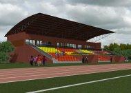Stadiono vizualizacija - Jurbarko miesto stadiono rekonstrukcijos projekte numatyta įrengti daugiau nei tris šimtų vietų turinčias tribūnas.