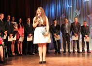 Sandra Stiklioriūtė Valdovų rūmuose kalbėjo visų Lietuvos moksleivių vardu