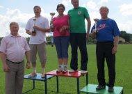 Bendroje seniūnijų įskaitoje, sporto žaidynių nugalėtojais tapo Viešvilės sportininkai, antra vieta atiteko Veliuonai, o garbinga trečioji - Jurbarko miesto seniūnijai.