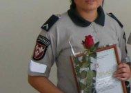 Geriausia Marijampolės apskrityje policijos patrule tapusi Jurbarko rajono policijos komisariato darbuotoja Lina Augustaitytė pateko į kitą etapą - galės siekti geriausios patrulės šalyje titulo.
