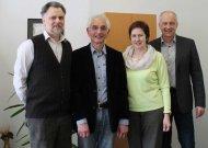 Susitikime su Vokietijos ambasados patarėju kalbai ir koordinatoriumi Lietuvoje Michaeliu Brehmu (iš dešinės) dalyvavo pagrindinės mokyklos vokiečių kalbos mokytoja Raminta Damušienė ir mokyklos direktorius Viljamas Bakšys.