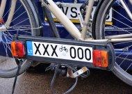 Vežantiems dviračius - speciali registracijos numerio lentelė