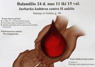 Jurbarkiečiai kviečiami aukoti kraujo