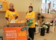 Samarietės Audra ir Virginija, rinkusios maisto produktus penktadienį IKI parduotuvėje, džiaugėsi jurbarkiečių dosnumu ir kasmet didėjančia atjauta