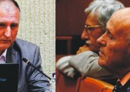 """AB """"Kauno energija"""" generalinis direktorius R.Bakas (kairėje) ir KE filialo Jurbarko šilumos tinklų buvęs direktorius P.Butkus."""