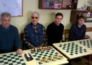 Jurbarko nugalėtojų komanda: iš kairės Valentinas Jankūnas, Aloyzas Žukauskas, Justas Jankūnas, Ignas Mockaitis