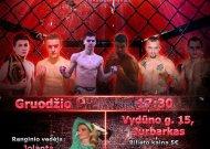 Geriausi Lietuvos MMA kovotojai – tarptautiniame turnyre Jurbarke