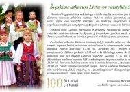 Rajono gyventojams - sveikinimai ir linkėjimai Lietuvos valstybės atkūrimo šimtmečio proga