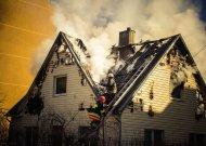 Jurbarko mieste degė namas