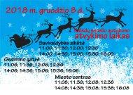 Šventinį šeštadienį po Jurbarką kursuos šventinis Kalėdų senelio autobusas