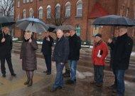 Prieš susitikimą savivaldybės vadovai ir svečiai apžiūrėjo įgyvendintą projektą, aptarė būsimus darbus