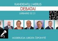 Jurbarkiečiai kviečiami į debatus su kandidatais į  rajono merus (ketvirtadienį, bibliotekoje)
