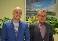 Už rajono melioracijos ir hidrotechnikos statinius atsakingi Žemės ūkio skyriaus vedėjas Martynas Kursevičius ir vyresnysis specialistas melioracijai Vincentas Pocius