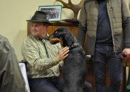 Šventėje apsilankė ir du vienintelės lietuvių skalikų veislės šunys, kuriuos augina Jurbarko rajono savivaldybės vicemeras Daivaras Rybakovas kartu su žmona Irma.