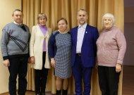 Jurbarkiečiai 2018 metų Lietuvos esperantininkų sąjungos suvažiavime (iš kairės): L. Abromas, R. Petraitytė, I. Viliušienė, S. Raulynaitis, Z. Babonienė.