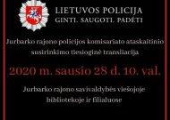 Viešoji biblioteka tiesiogiai transliuos rajono policijos veiklos ataskaitos pristatymą