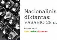 Dalyvaukime Nacionalinio diktanto konkurse