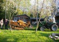 """Šiomis dienomis muziejų pasiekė itališkas 1961 metų gamybos vikšrinis traktorius """"FIAT"""", pagamintas karinėje tankų gamykloje."""