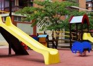 Vaikų žaidimų aikštelėse vėl gali žaisti ne tik vienos šeimos vaikai